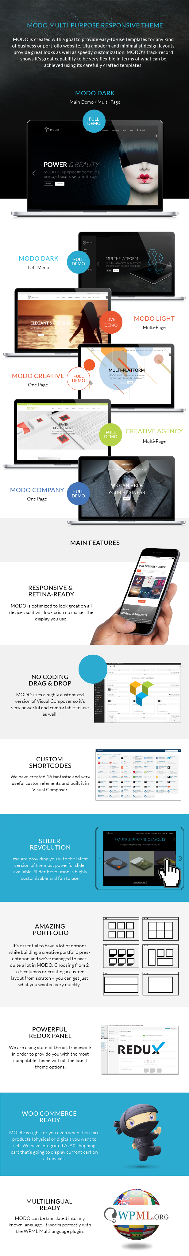 MODO  Multi-Purpose Responsive Theme - 1